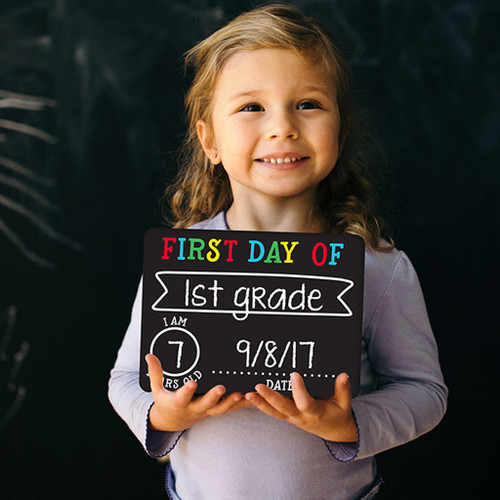 First & Last Day Chalk Signs
