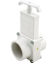 3 piece Magic Plastics 1 1/2 inch PVC gate valve
