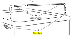 pivot arm for Covermate I