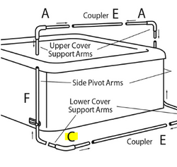 lower support arm for covermate II