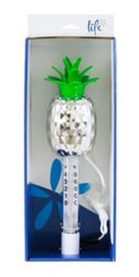 Life Spa Chrome Thermometer Pineapple MTH502