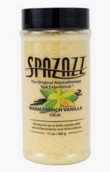 17oz Fragrance Crystals Warm French Vanilla Calm Spazazz SPAZ102