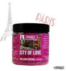 SPAZAZZ Destinations Crystals Paris 4oz Jars City of Love SPAZ620