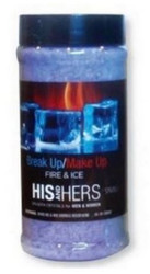 17OZ Crystals His and Hers Novelty Break Up Make Up Fire and I Spazazz SPAZ903