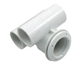 Min Jet Body 1 Inch Air x 1 Inch Slip Water Tee with Wall Fitting 222-0030