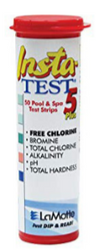 Lamotte Insta-Test 5 28512E00 Free Chlorine 0-10ppm Brom 2977