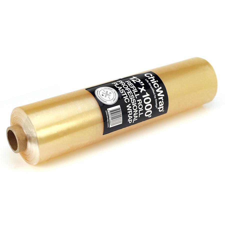 "BIG Refill Roll Professional Grade Plastic Wrap 12"" x 1000' (Designed for Big Chef & Shiplap Dispenser Only)"