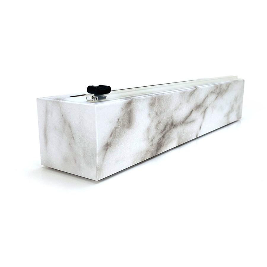 "NEW Dispenser Carrara Marble Plastic Wrap 12"" x 250'"