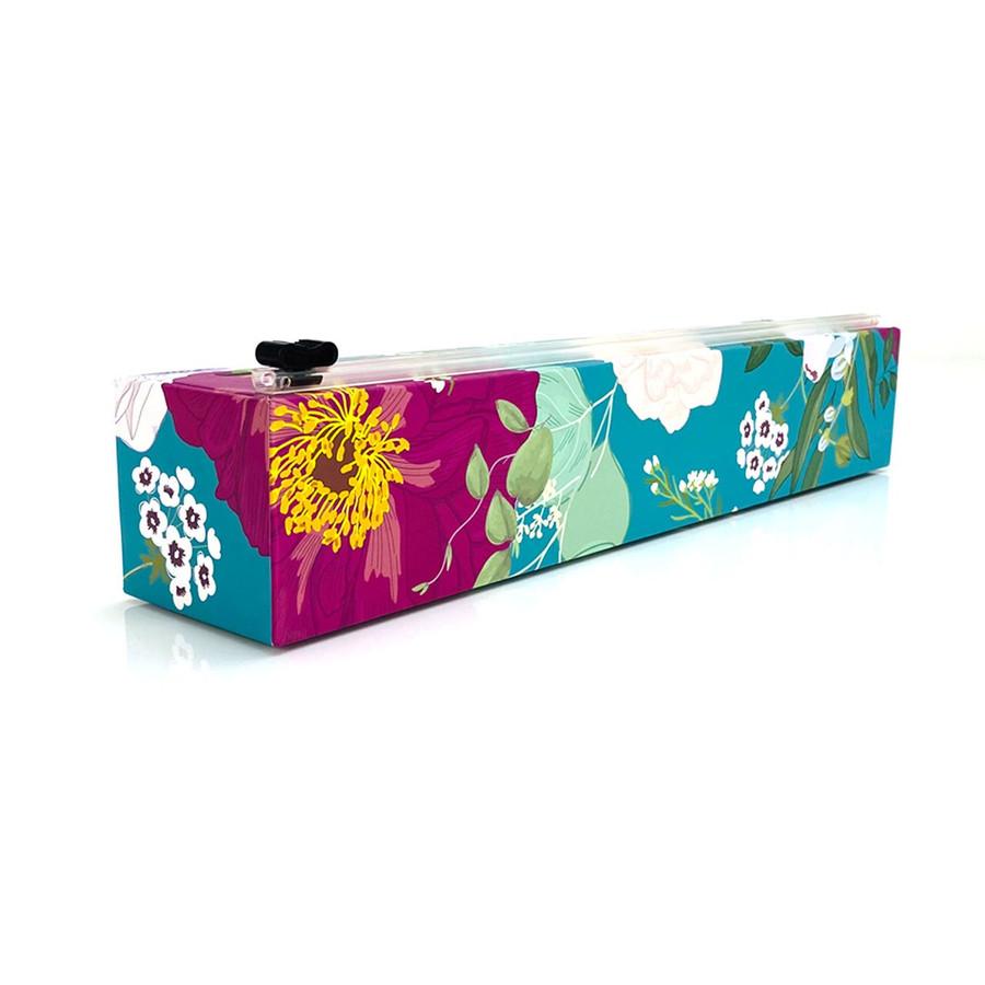 "NEW Dispenser Spring Flowers Plastic Wrap 12"" x 250'"