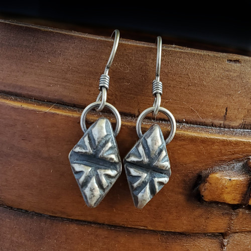 Sterling Triangle Stamped Earrings