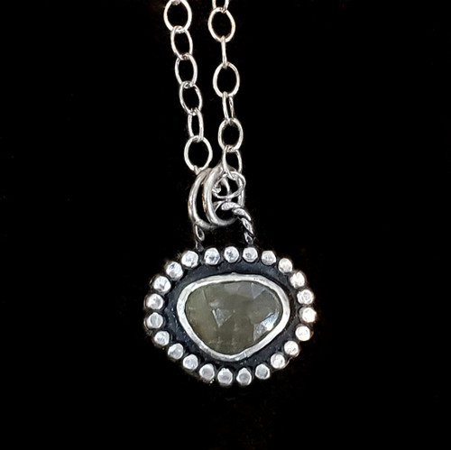 Yellow Sapphire and Sterling Necklace