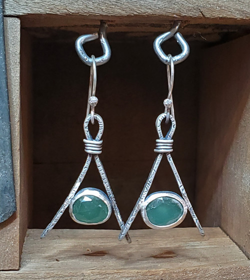 Tethered Chalcedony Earrings