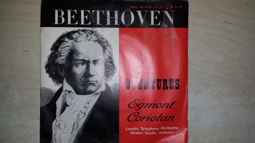 "7"" 33RPM Beethoven Overtures - Egmont/Coriolan by London Symphony Orchestra from Concert Hall Record Club"