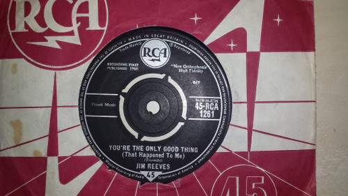 """7"""" 45RPM You're The Only Good Thing (That Happened To Me)/Oh, How I Miss You Tonight by Jim Reeves from RCA"""