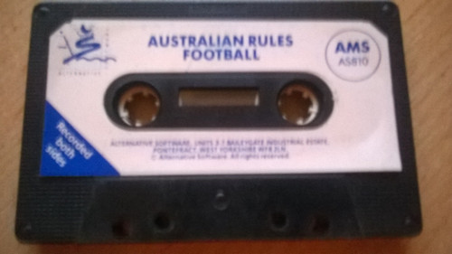 Australian Rules Football Tape Only for Amstrad CPC from Alternative Software