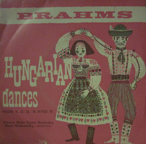 "7"" 33RPM Hungarian Dances Nos 1, 2, 3, 5 And 6 by Brahms from Concert Hall"