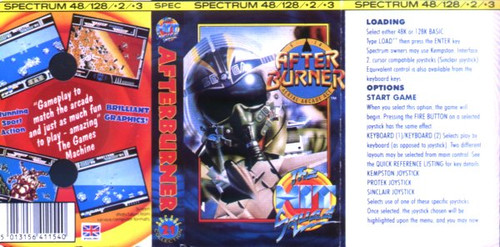 Afterburner for ZX Spectrum from The Hit Squad