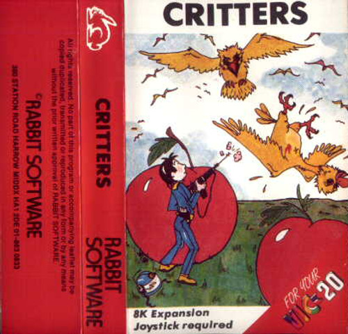 Critters For Commodore Vic 20 from Rabbit Software