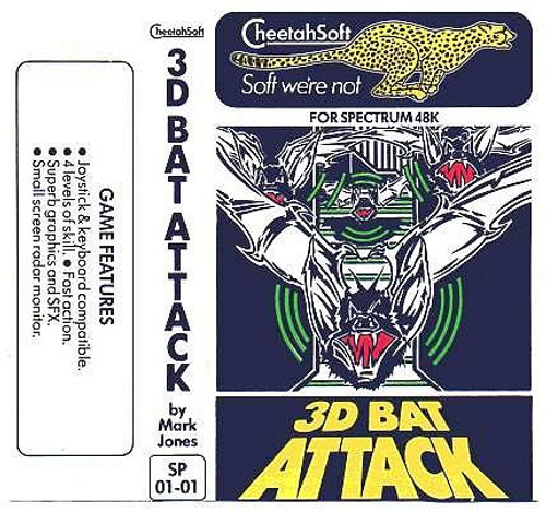 3D Bat Attack for ZX Spectrum from Cheetahsoft