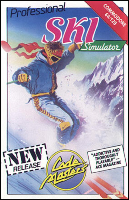 Professional Ski Simulator for Commodore 64 from CodeMasters