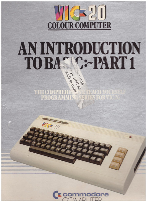 An Introduction To Basic: Part 1 for Commodore Vic 20 from Commodore