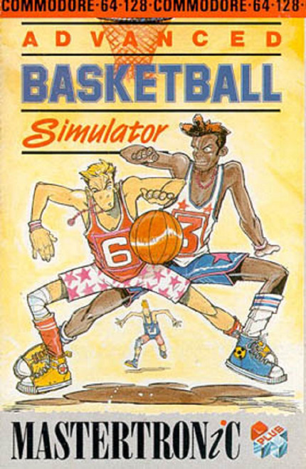Advanced Basketball Simulator for Commodore 64 from Mastertronic Plus-1