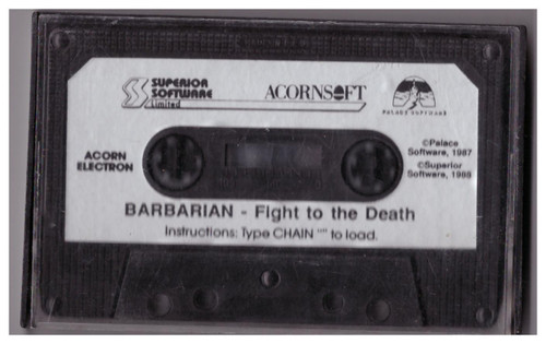 Barbarian Tape Only for Acorn Electron from Superior Software/AcornSoft