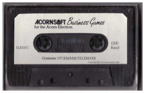 Business Games Tape Only for Acorn Electron from AcornSoft