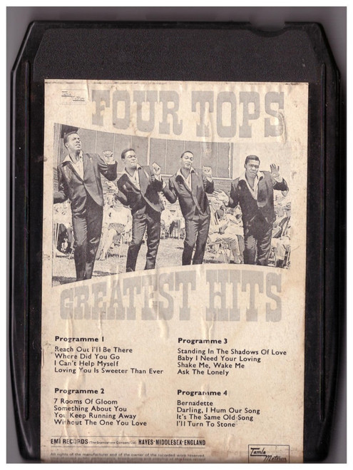 Four Tops Greatest Hits 8-Track from Tamla Motown/EMI