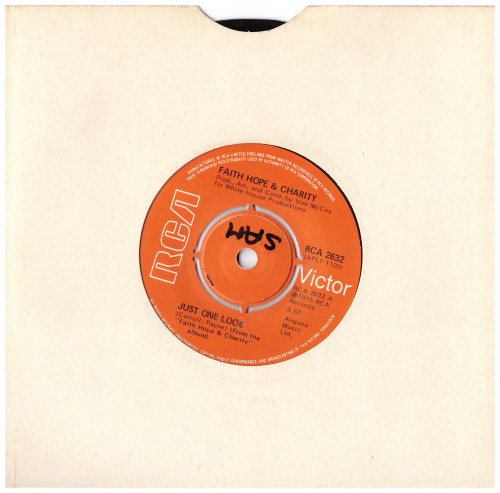 "7"" 45RPM Just One Look/Disco Dan by Faith Hope & Charity from RCA Victor"