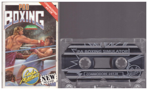 Pro Boxing Simulator for Commodore 64 from CodeMasters