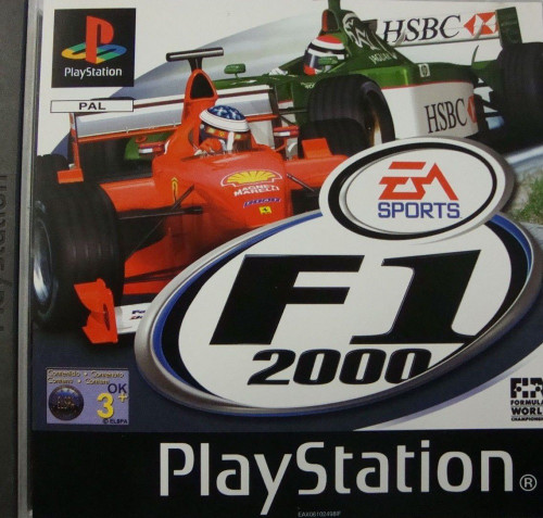 F1 2000 PAL for Sony Playstation 1/PS1/PSX from EA Sports