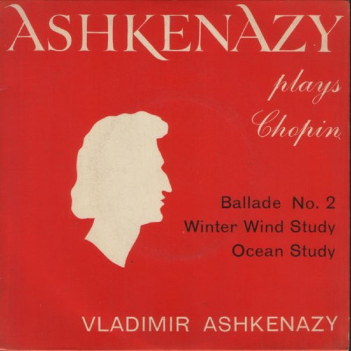 "7"" 33RPM Ashkenazy Plays Chopin EP by Vladimir Ashkenazy from A.R.C Records (ARC 33)"