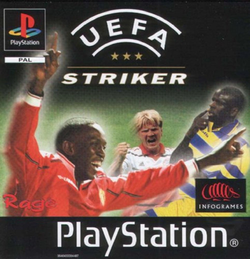 UEFA Striker PAL for Sony Playstation 1/PS1/PSX from Infogrames (SLES 01733)