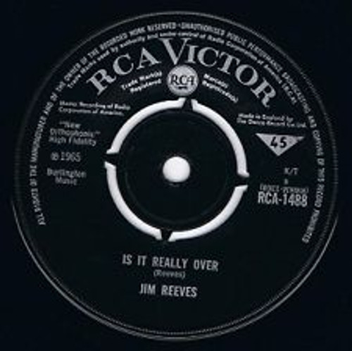 "7"" 45RPM Is It Really Over/That's A Sad Affair by Jim Reeves from RCA"