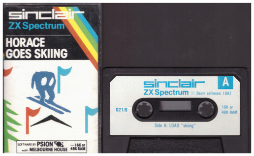 Horace Goes Skiing by Melbourne House/Sinclair for Spectrum on Tape