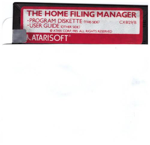The Home Filing Manager Disk Only for Atari 8-Bit Computers from Atarisoft (CX 8129/B)