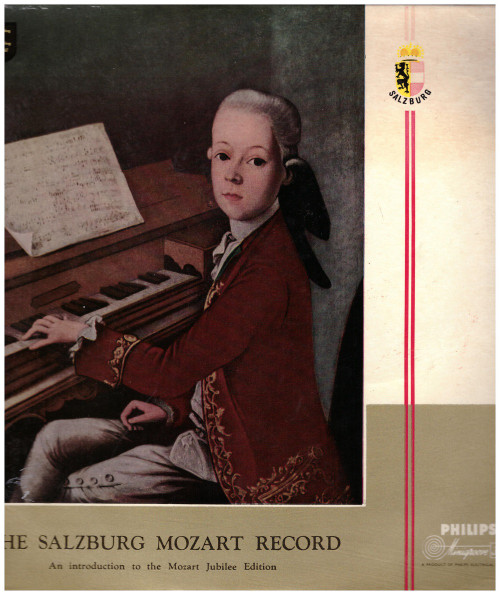"""10"""" 33RPM The Salzburg Mozart Record from Philips (S 05906 R)"""