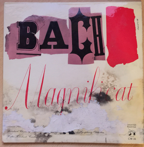 """10"""" 33RPM Bach - Magnificat In D Major by Maria Stader from Concert Hall Record Club (CM-31)"""