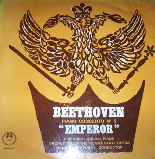 """Beethoven Piano Concerto No 5 """"Emperor"""" by Friedrich Gulda/Orchestra Of The Vienna State Opera/Hans Swarowsky from Concert Hall (AM 2307)"""