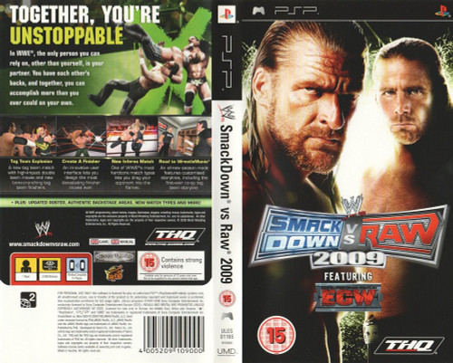 WWE: Smackdown Vs Raw 2009 for Sony Playstation Portable/PSP from THQ (ULES 01165)