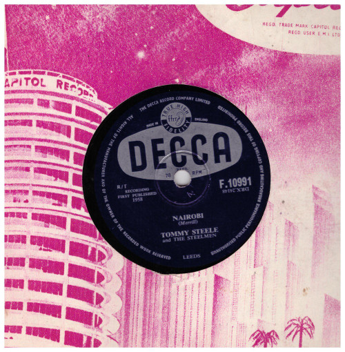 "10"" 78RPM Nairobi/Neon Sign by Tommy Steele from Decca (F.10991)"