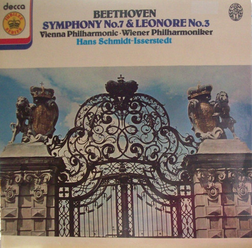 Beethoven Symphony No. 7 & Leonore No. 3 by Vienna Philharmonic/Hans Schmidt-Isserstedt from Decca (JB 4)