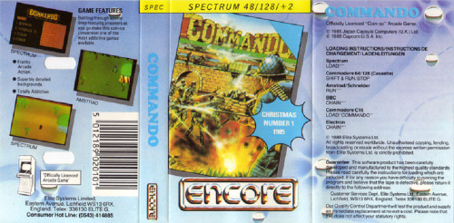 Commando for ZX Spectrum from Encore