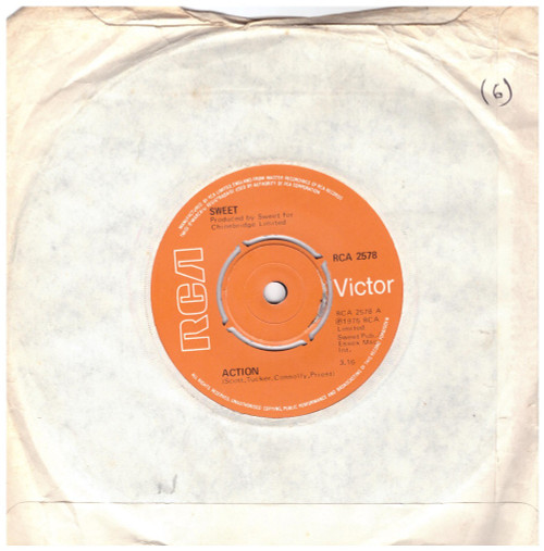 "7"" 45RPM Action/Sweet F.A. by Sweet from RCA (RCA 2578)"
