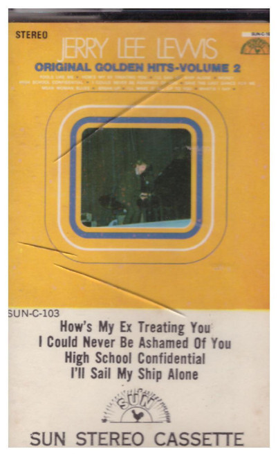 Original Golden Hits - Volume 2 by Jerry Lee Lewis from Sun Stereo Cassette (SUN-C-103)