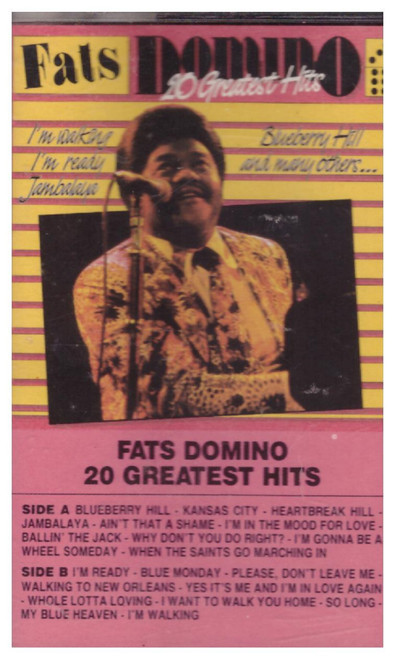 20 Greatest Hits from Fats Domino from Fun on Cassette (FUNC 9011)