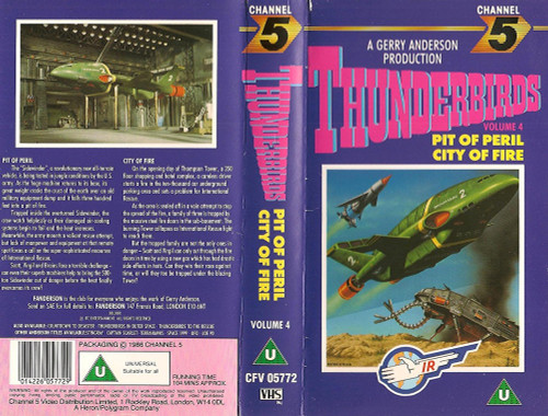 Thunderbirds Volume 4 on VHS from Channel 5 (CFV 05772)