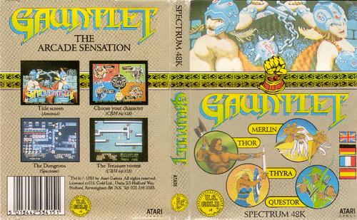 Gauntlet for Spectrum by U.S. Gold on Tape