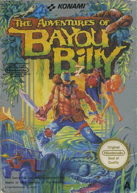 The Adventures Of Bayou Billy PAL for Nintendo Entertainment System/NES from Konami (NES-MU-UKV)